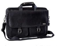 BLACK EXECUTIVE LEATHER CASE - BLACK 15.6