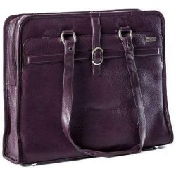BLACK 15.6  EXECUTIVE LEATHER CASE-BURGANDY