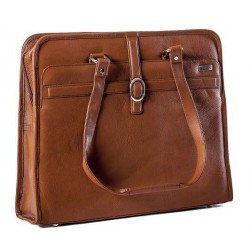 BLACK LADIES EXECUTIVE LEATHER CASE - TAN 15.6