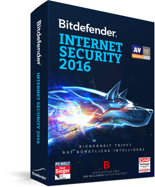 BITDEFENDER 2016 - INTERNET SECURITY 1 USER